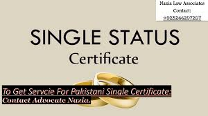 Easy Process For Know The Doctrine of Unmarried Certificate in Pakistan By Lawyers