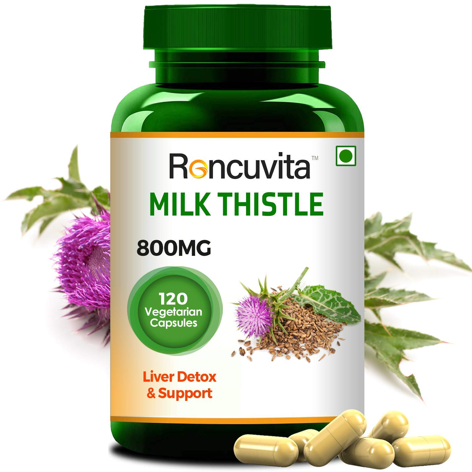 Milk thistle supplement for fatty liver
